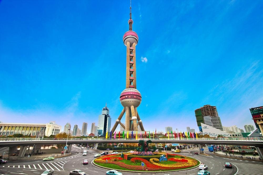 Башня «Восточная жемчужина» в Шанхае