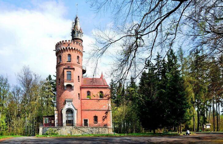 Башня Гёте близ Карловых Вар, Чехия
