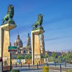 Город Сарагоса в Испании