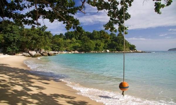 тарзанка на пляже