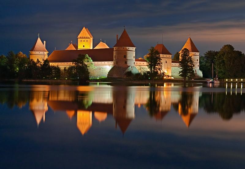 Тракайский замок близ Вильнюса, г. Тракай