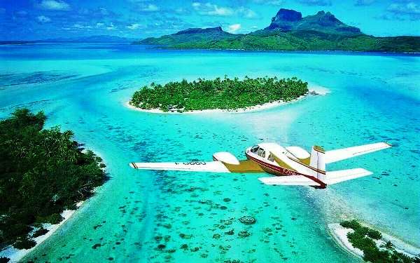 Французская Полинезия с высоты птичьего полета