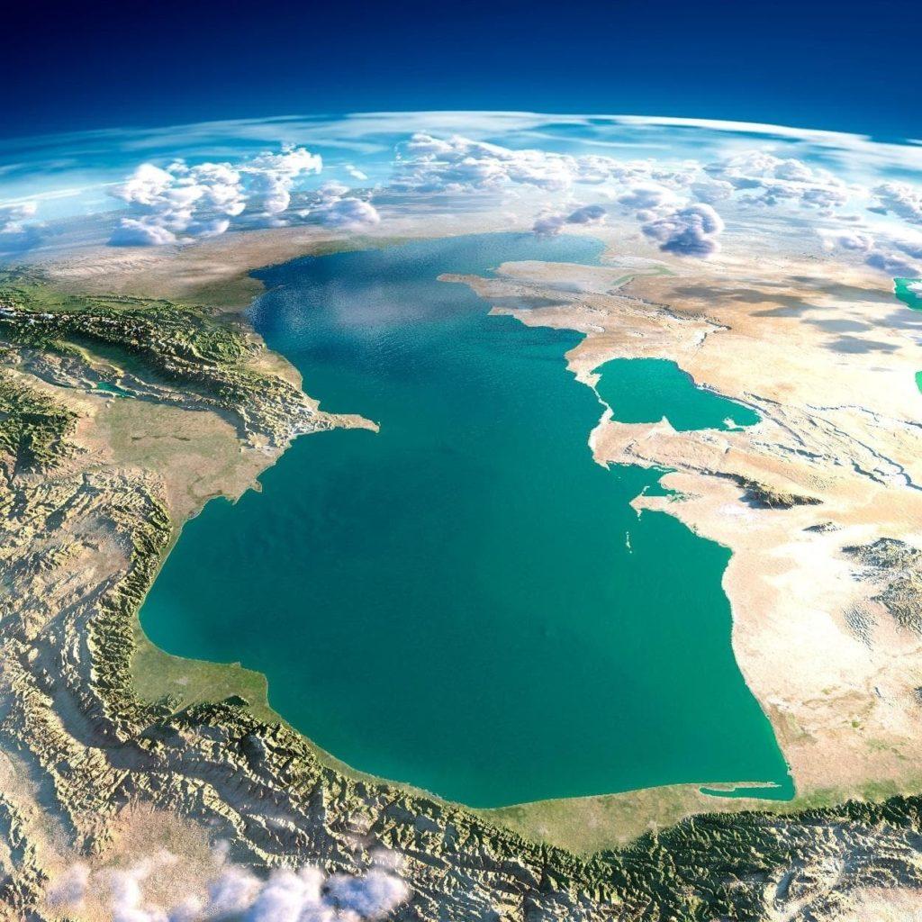 Каспийское море. Снимок из космоса