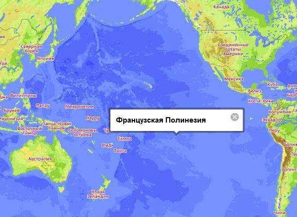 Французская Полинезия на карте