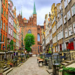 Город Гданьск в Польше