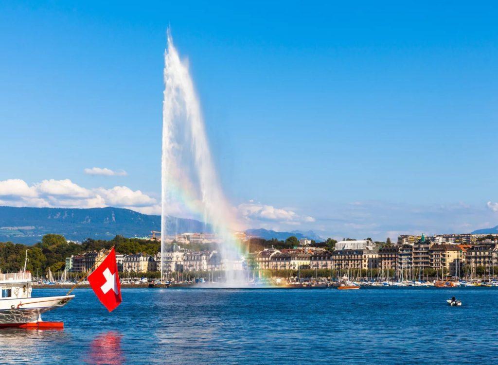 Фонтан Же-До в Женеве
