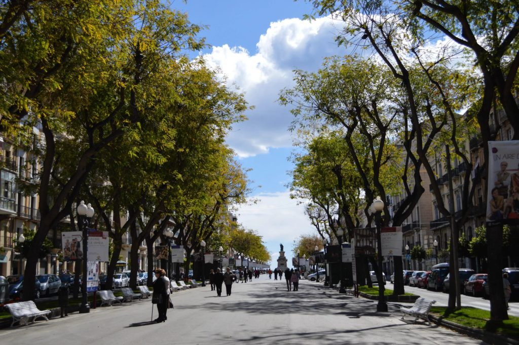 Пешеходный улица Рамбла Нова в Таррагоне