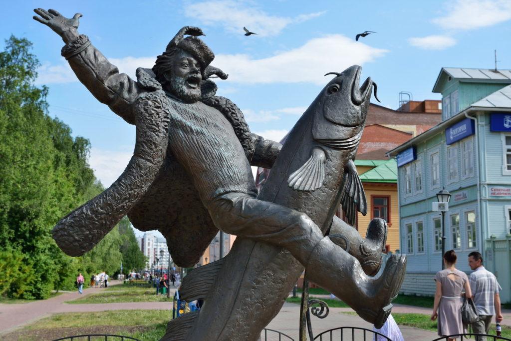 Памятник Сене Малине в Архангельске