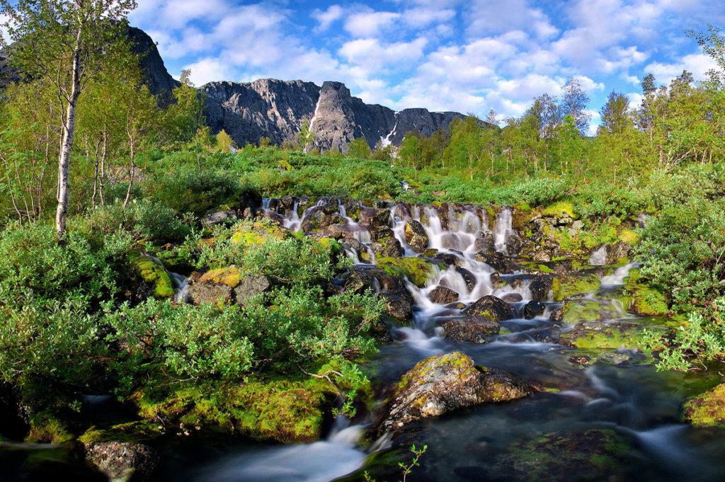 """Водопад """"Красивый"""", Кировск, Хибины"""