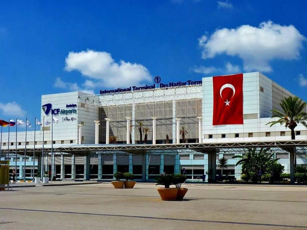 Аэропорт в Анталье, Турция