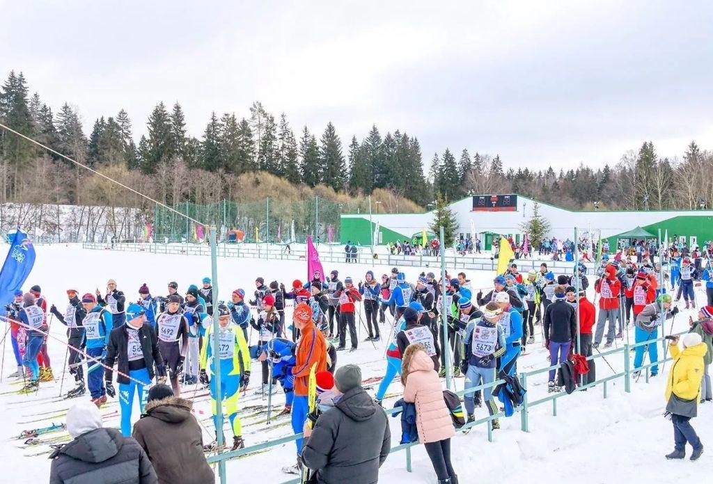 Лыжная трасса стадиона Ангстрем в Зеленограде