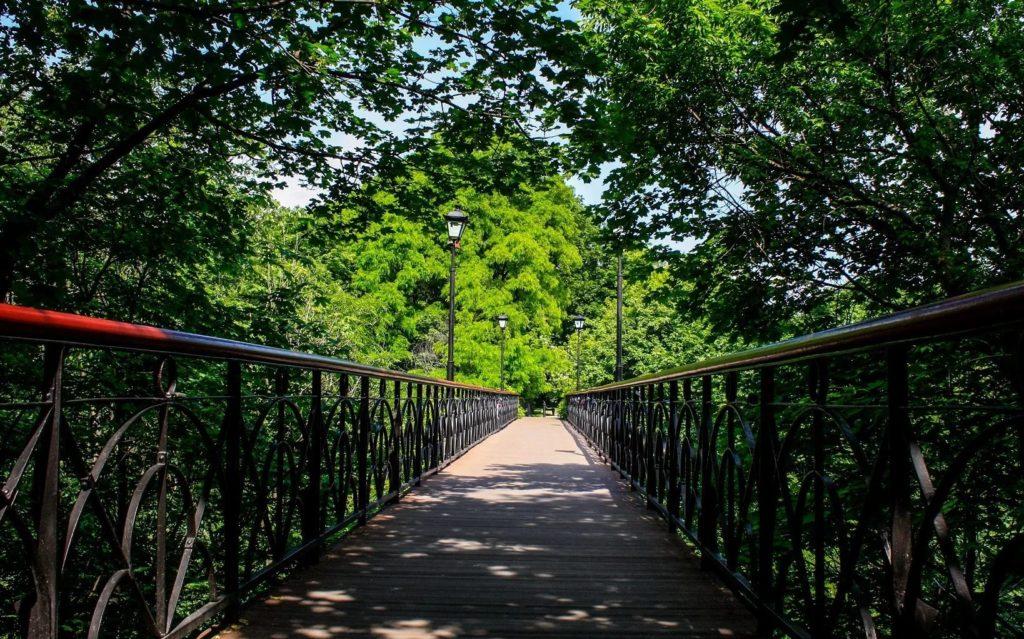 Парковый мост в Киеве