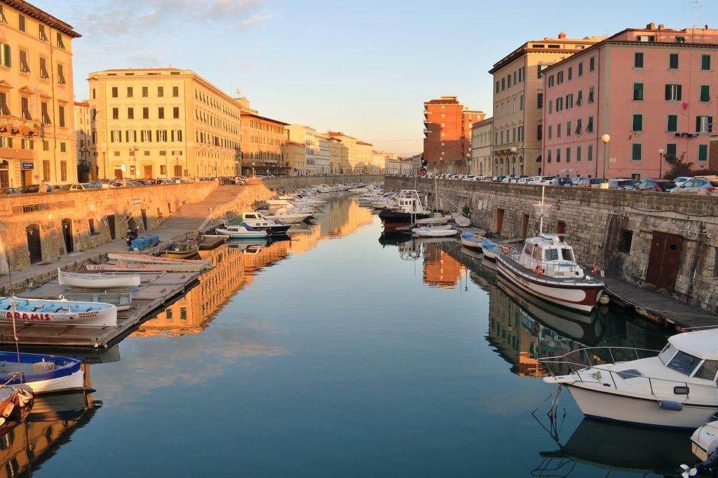Квартал Новая Венеция в Ливорно