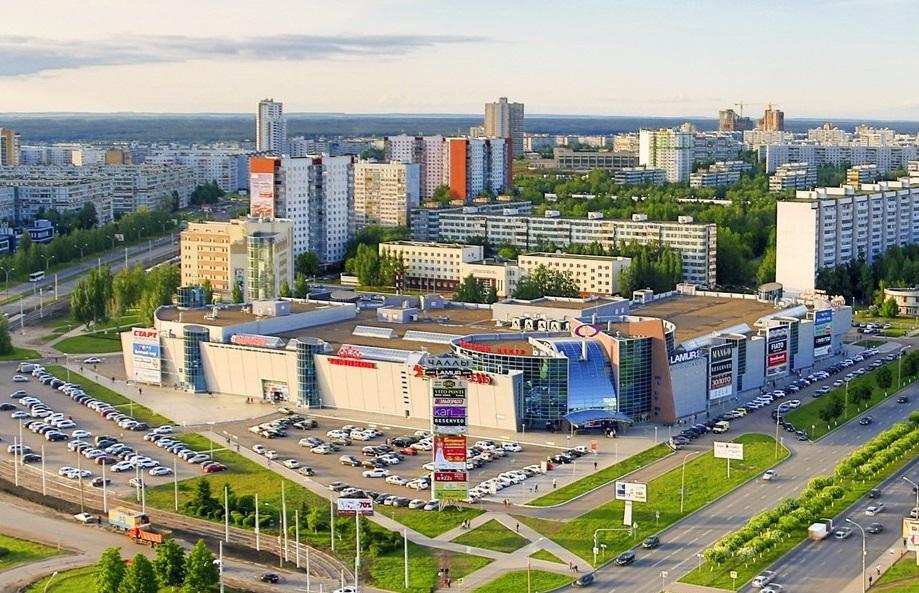 Набережные челны на карте России с улицами и домами