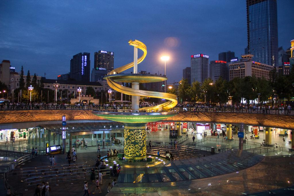 Площадь Тяньфу в Чэнду