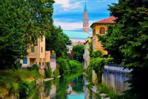 Город Виченца в Италии