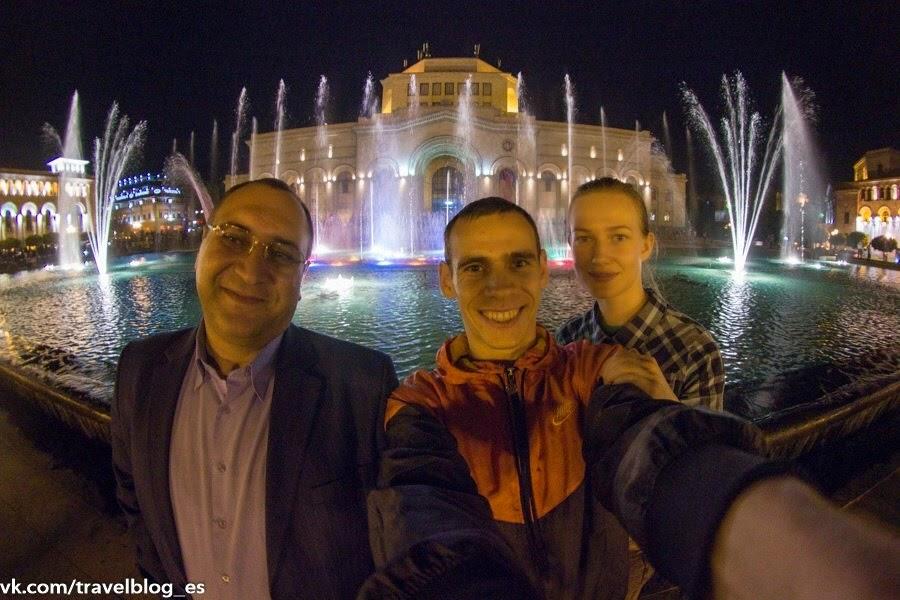 Танцующие фонтаны в центре Еревана