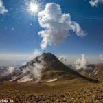 Одна из вершин горы Арагац