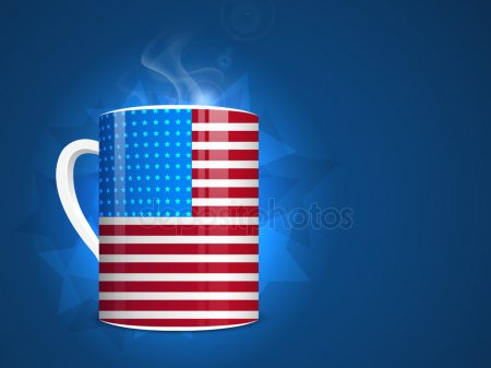Кружка с изображением американского флага