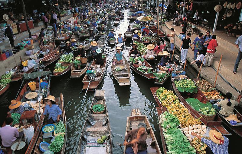 Водный рынок Бангкок