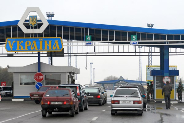украинский КПП на границе