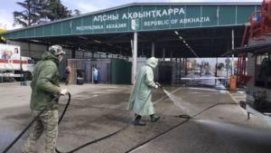 закрытое КПП Абхазской Республики