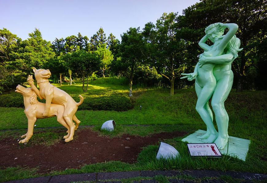 скульптурные группы в парке любви